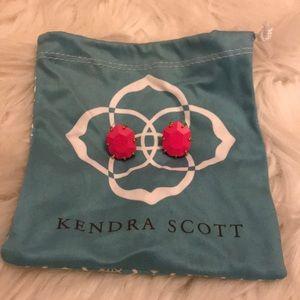 Kendra Scott neon pink studs